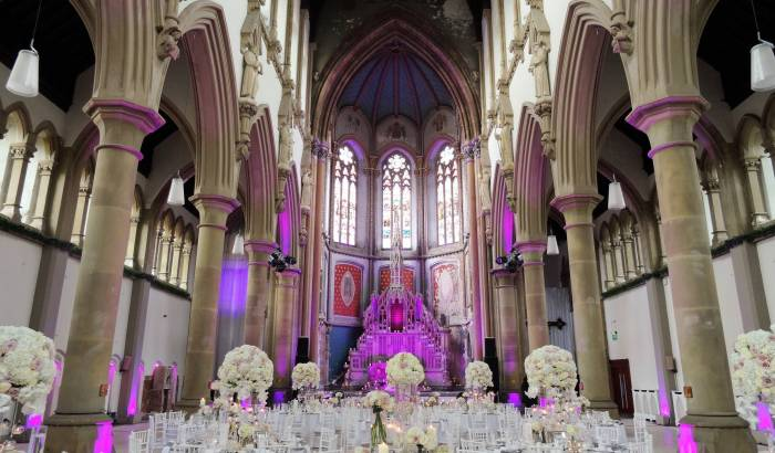 Great Nave Set For A Summer Wedding Breakfast