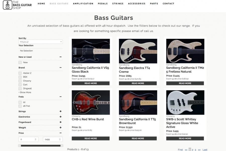 the bass guitar shop