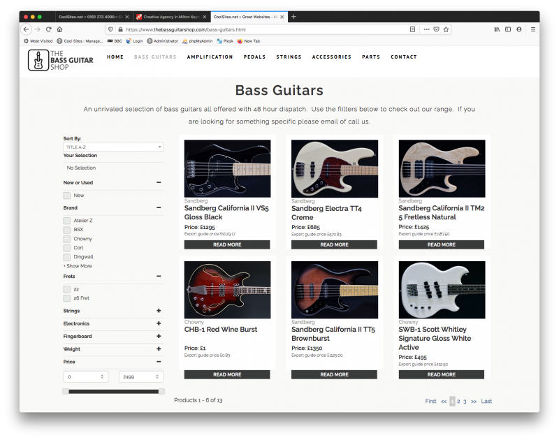 the bass guitar shop